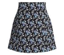 Cotton-blend jacquard mini skirt