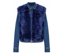 Carolina faux shearling-paneled denim jacket