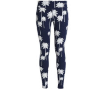 Printed Stretch Leggings Navy