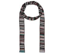 Woman Metallic Striped Crochet-knit Scarf Multicolor