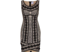 Agnese lace-up jacquard-knit bandage mini dress