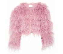 Lennox feather-embellished mesh jacket