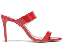 Patent-leather Mules Red