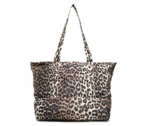 Floral-print Shell Tote Animal Print Size --