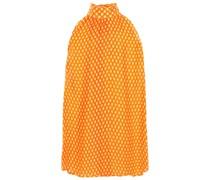 Woman Polka-dot Silk Top Orange
