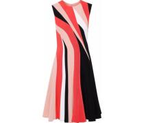 Color-block cady dress