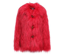 Faux Fur Coat Bright Pink