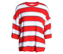 Oversized striped stretch-jersey T-shirt