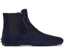 Suede Ankle Boots Navy