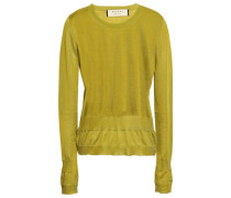 Woman Silk Sweater Lime Green