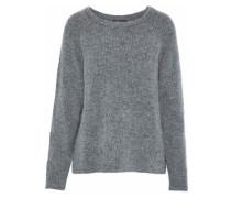 Jerry appliquéd mélange ribbed-knit sweatshirt