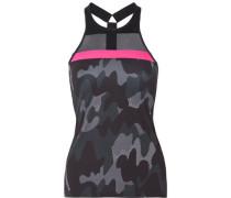 Blaze mesh-paneled camouflage-print stretch tank