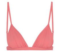 So Solid Taylor Triangle Bikini Top Coral