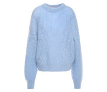 Chuden Brushed-knitted Sweater Light Blue