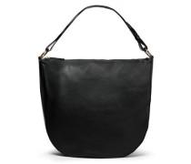Woman Textured-leather Shoulder Bag Black