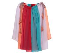 Anais Color-block Georgette Blouse Red