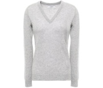 Mélange Cashmere Sweater Light Gray