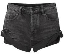 Distressed Denim Shorts Black  7