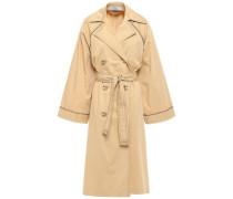 Oversized Stretch-cotton Gabardine Trench Coat Beige