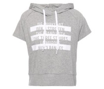 Mélange Printed French Cotton-terry Hoodie Light Gray