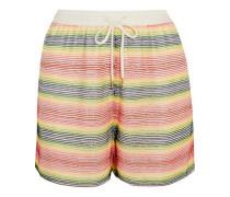 Beaded silk-georgette shorts
