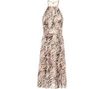 Dominica Silk-blend Devoré Halterneck Midi Dress