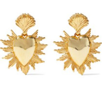 Woman Sacred Heart Gold-tone Earrings Gold