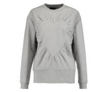 Gathered stretch-cotton jersey sweatshirt