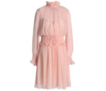 Shirred chiffon dress
