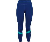Two-tone Tech-jersey Leggings Royal Blue