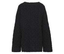 Cable-knit Cashmere Sweater Dark Gray