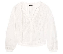 Maryana broderie anglaise cotton blouse
