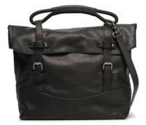 Buckled Leather Shoulder Bag Dark Brown Size --