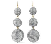 Gold-tone cord earrings