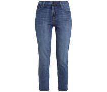 Ruby Cropped Faded High-rise Slim-leg Jeans Mid Denim  8
