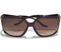 Woman D-frame Acetate Sunglasses Brown
