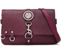 Embellished Leather Shoulder Bag Grape Size --