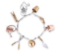 Gold, Silver And Rose Gold-tone Bracelet Silver Size --