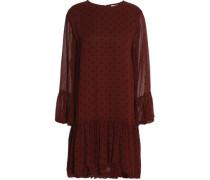 Polka-dot georgette mini dress
