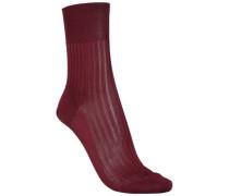 Ribbed Silk Socks Burgundy  /M
