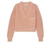 Ribbed Wool Sweater Peach