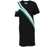 Cutout Striped Cotton-jersey Mini Dress Black Size 1