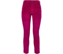 The Stiletto Cotton-blend Corduroy Skinny Pants Magenta  3