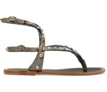 Audrio embellished leather sandals