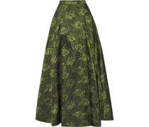 Carey pleated brocade maxi skirt