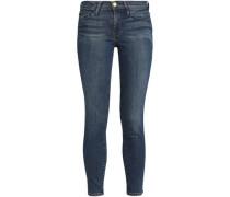 Faded Mid-rise Skinny Jeans Mid Denim
