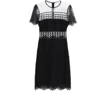 Two-tone lace mini dress