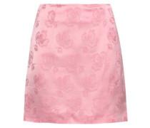 Floral Satin-jacquard Mini Skirt Baby Pink