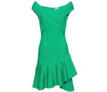 Off-the-shoulder Ruffled Bandage Mini Dress Jade