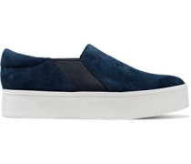 Warren Suede Platform Slip-on Sneakers Navy